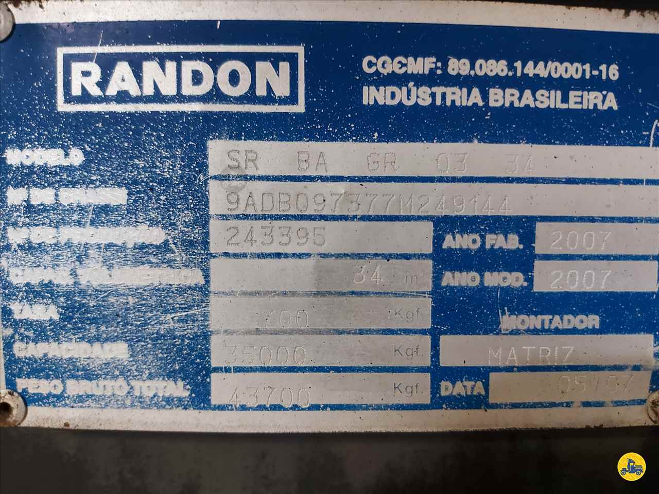 SEMI-REBOQUE BASCULANTE  2007/2007 Nino Caminhões