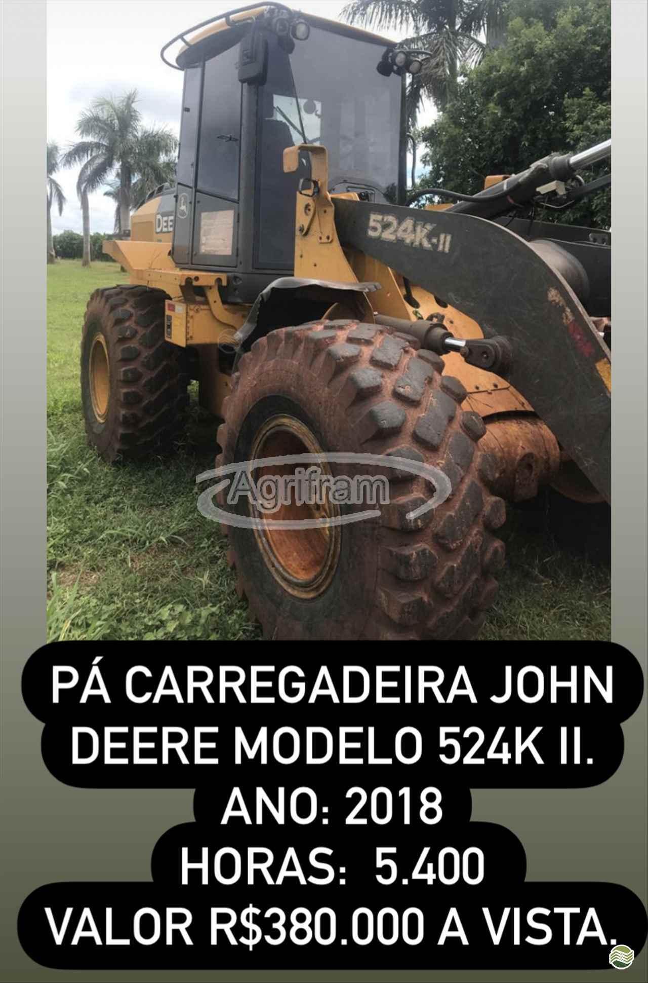 PA CARREGADEIRA JOHN DEERE 524K Agrifram Máquinas e Soluções Agrícolas LUIS EDUARDO MAGALHAES BAHIA BA