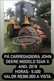 JOHN DEERE 524K  2018/2018 Agrifram Máquinas e Soluções Agrícolas