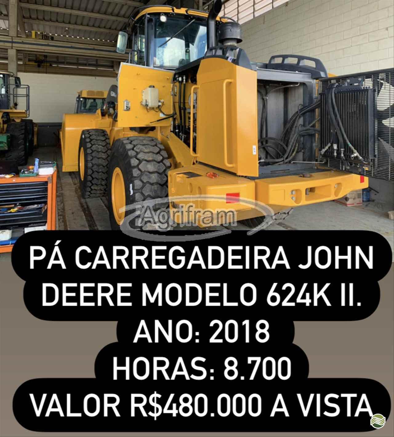 JOHN DEERE 624K  2018/2018 Agrifram Máquinas e Soluções Agrícolas