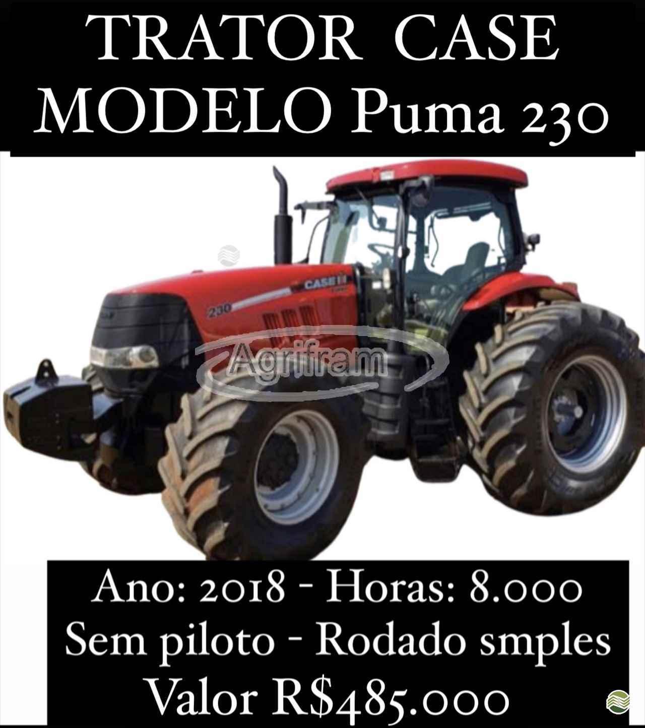 TRATOR CASE PUMA 230 Tração 4x4 Agrifram Máquinas e Soluções Agrícolas LUIS EDUARDO MAGALHAES BAHIA BA