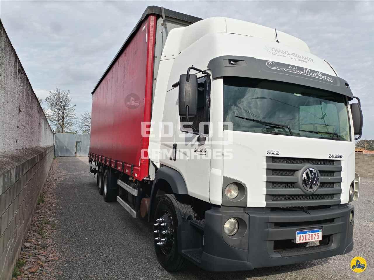 CAMINHAO VOLKSWAGEN VW 24280 Baú Sider Truck 6x2 Edson Caminhões CURITIBA PARANÁ PR