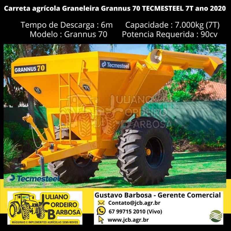 IMPLEMENTOS AGRICOLAS CARRETA BAZUKA GRANELEIRA 6500 JCB Máquinas e Implementos Agrícolas MARACAJU MATO GROSSO DO SUL MS