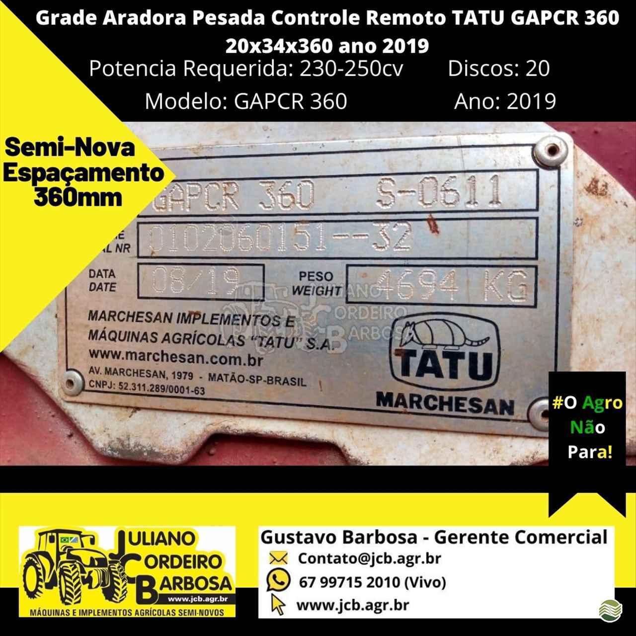GRADE ARADORA ARADORA 20 DISCOS  2019 JCB Máquinas e Implementos Agrícolas
