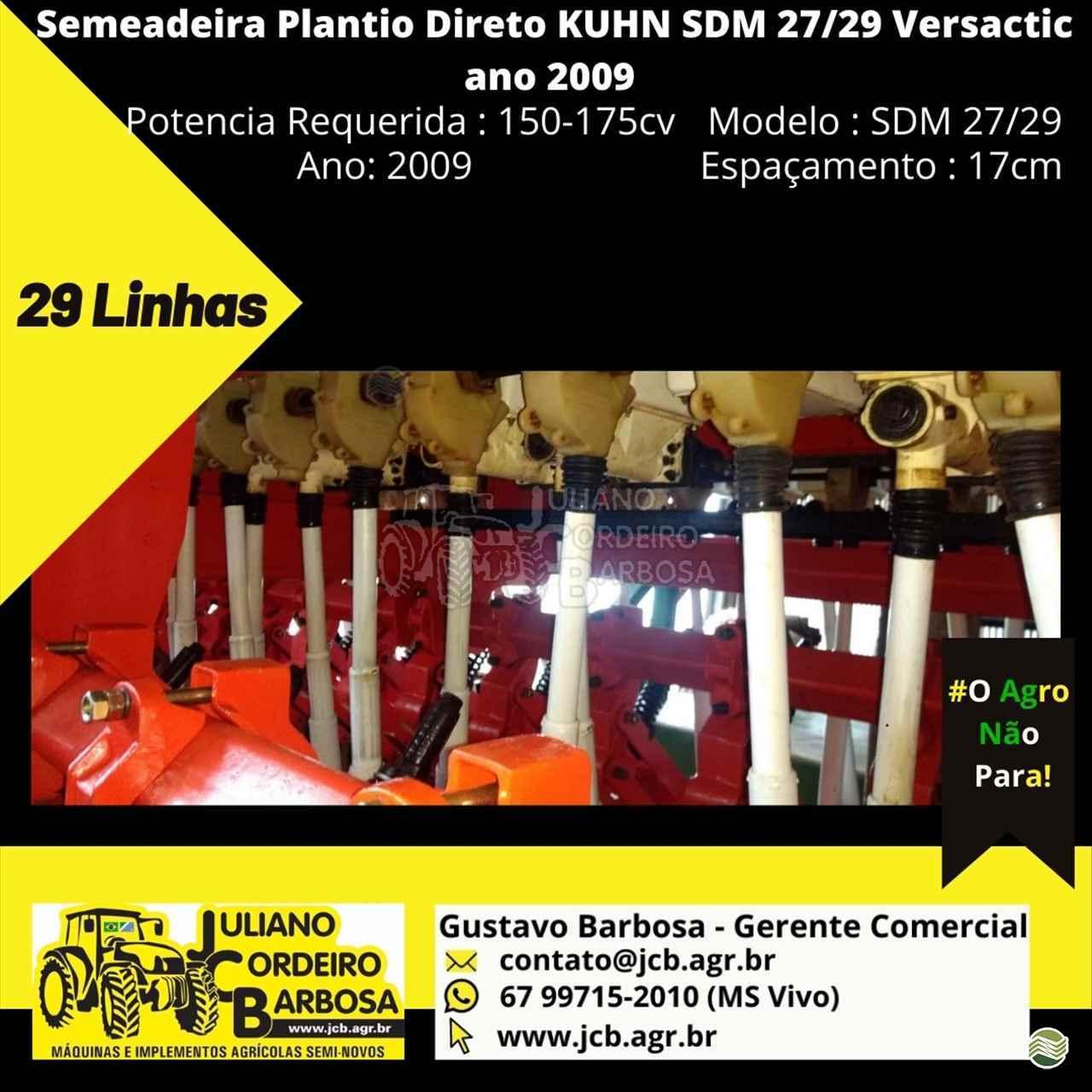 KUHN SDM 2227/29  2009/2009 JCB Máquinas e Implementos Agrícolas