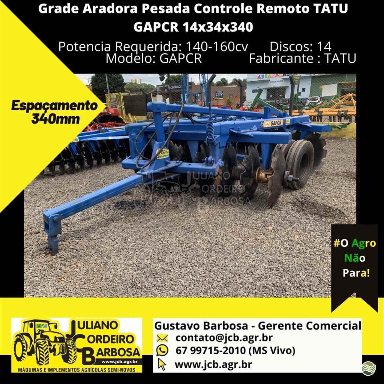 IMPLEMENTOS AGRICOLAS GRADE ARADORA ARADORA 14 DISCOS JCB Máquinas e Implementos Agrícolas MARACAJU MATO GROSSO DO SUL MS