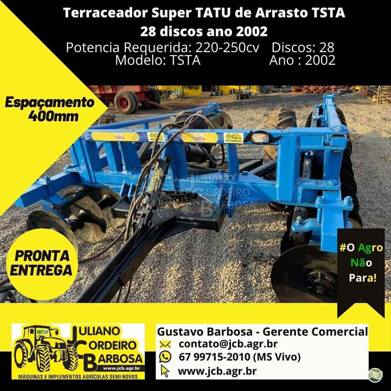 IMPLEMENTOS AGRICOLAS TERRACEADOR 28 DISCOS JCB Máquinas e Implementos Agrícolas MARACAJU MATO GROSSO DO SUL MS