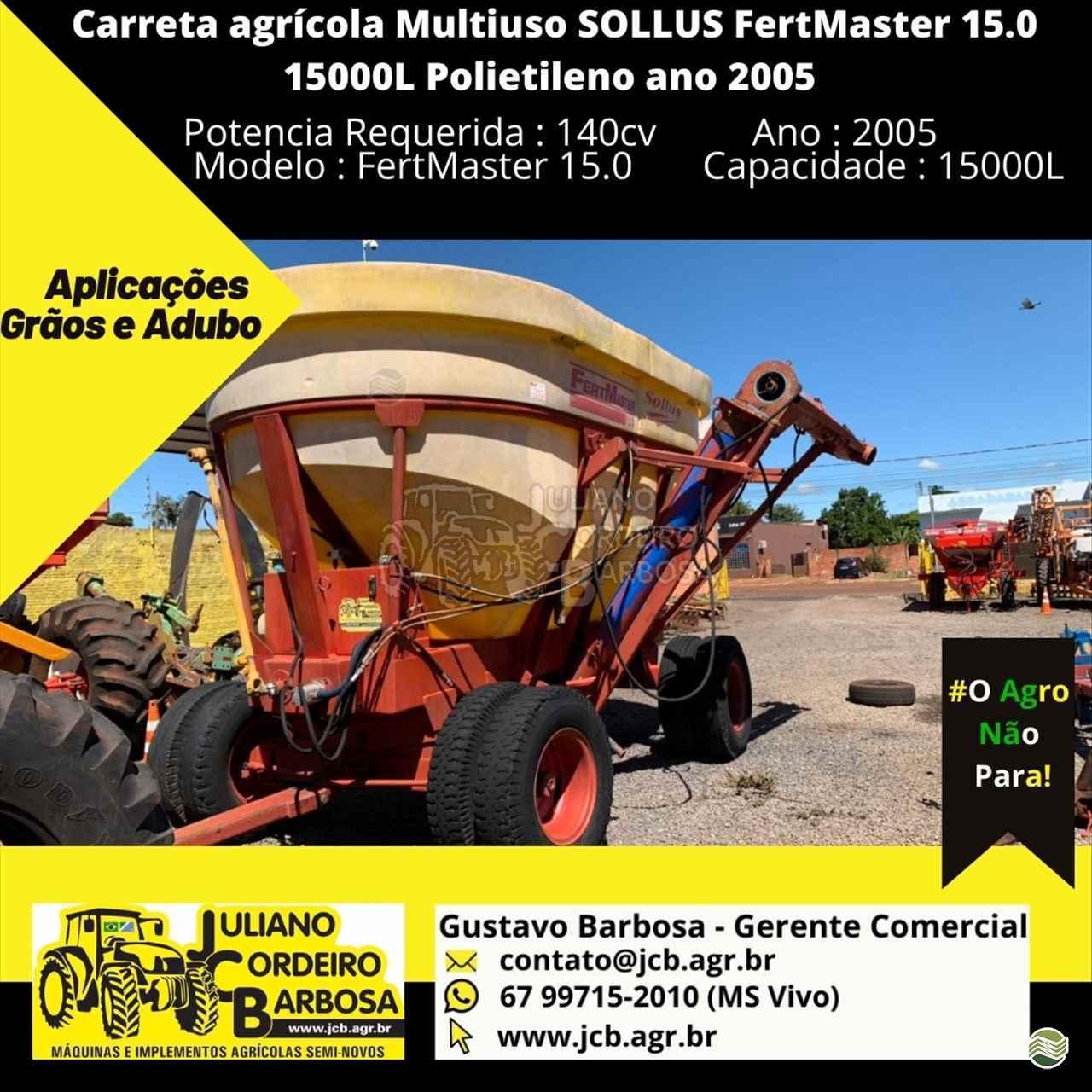 IMPLEMENTOS AGRICOLAS CARRETA BAZUKA GRANELEIRA 15000 JCB Máquinas e Implementos Agrícolas MARACAJU MATO GROSSO DO SUL MS