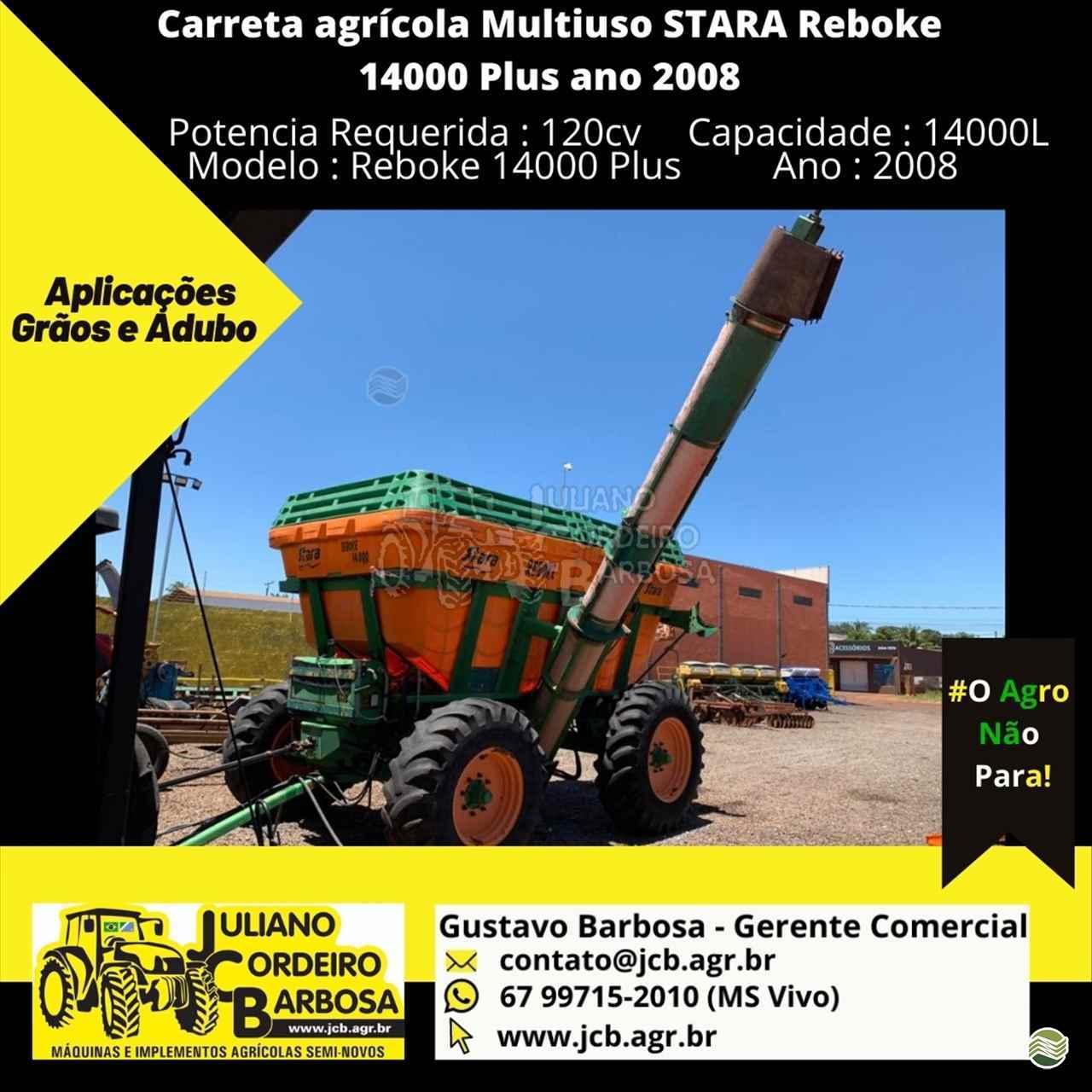 IMPLEMENTOS AGRICOLAS CARRETA BAZUKA GRANELEIRA 14000 JCB Máquinas e Implementos Agrícolas MARACAJU MATO GROSSO DO SUL MS