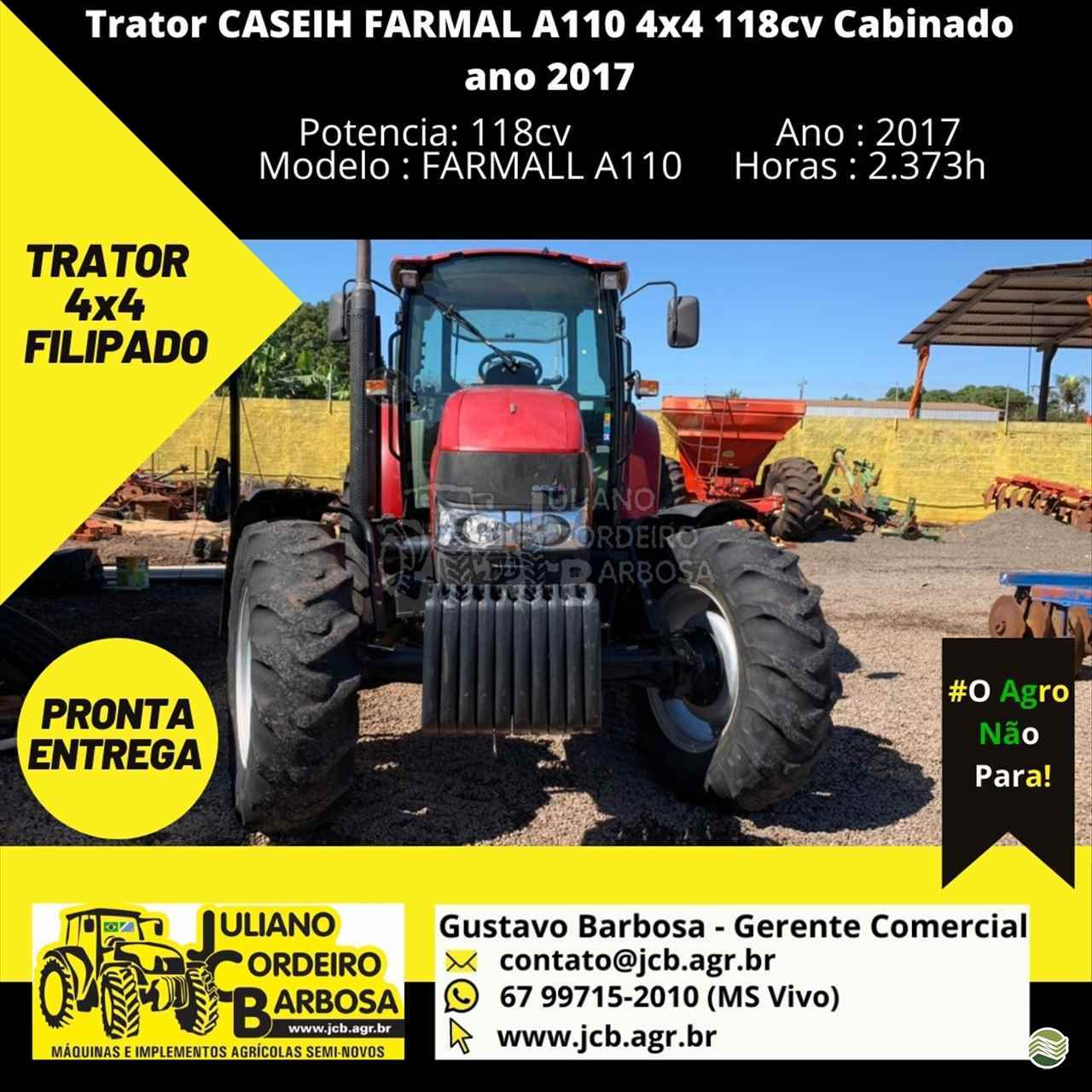 CASE CASE Farmall 110  2017/2017 JCB Máquinas e Implementos Agrícolas