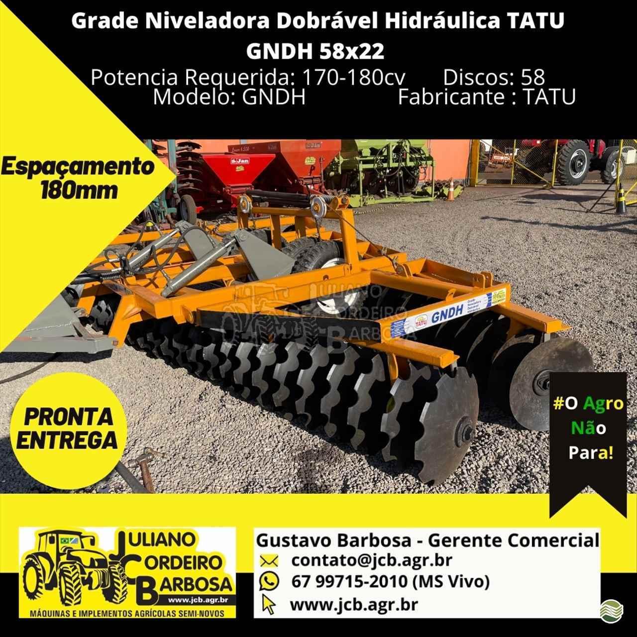 IMPLEMENTOS AGRICOLAS GRADE NIVELADORA NIVELADORA 56 DISCOS JCB Máquinas e Implementos Agrícolas MARACAJU MATO GROSSO DO SUL MS