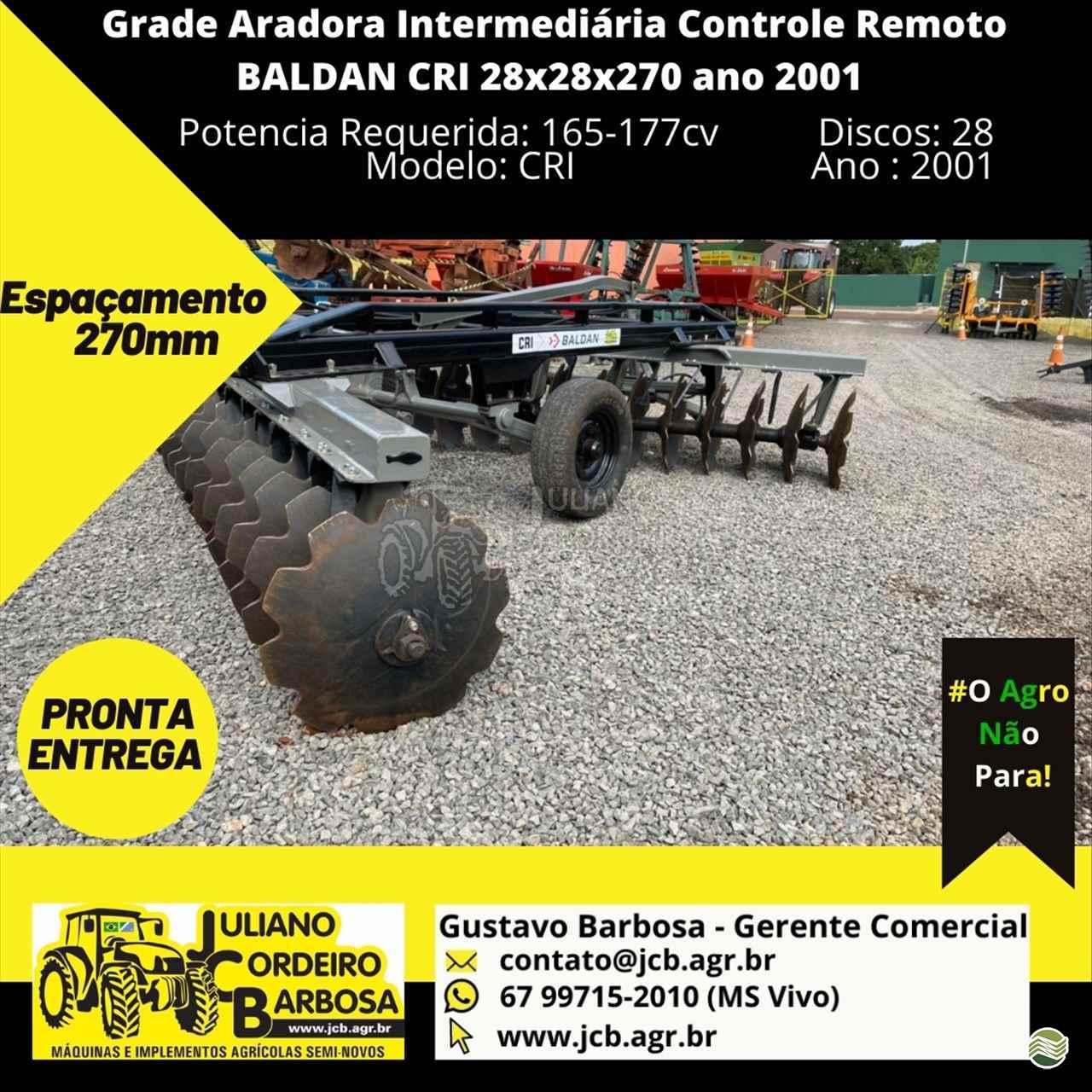 IMPLEMENTOS AGRICOLAS GRADE INTERMEDIÁRIA INTERMEDIÁRIA 28 DISCOS JCB Máquinas e Implementos Agrícolas MARACAJU MATO GROSSO DO SUL MS