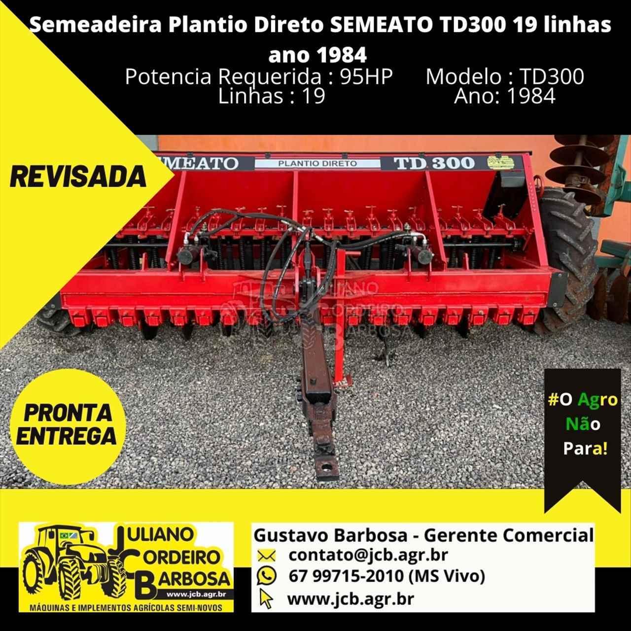 SEMEADEIRA SEMEATO TD 300 JCB Máquinas e Implementos Agrícolas MARACAJU MATO GROSSO DO SUL MS