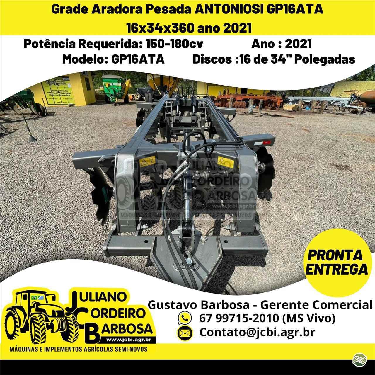 IMPLEMENTOS AGRICOLAS GRADE ARADORA ARADORA 16 DISCOS JCB Máquinas e Implementos Agrícolas MARACAJU MATO GROSSO DO SUL MS