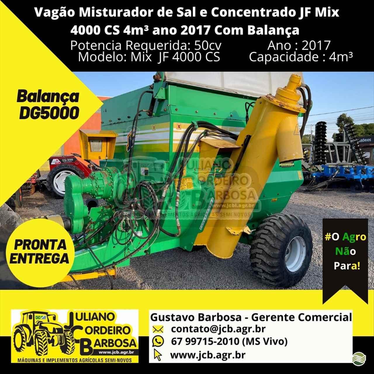 IMPLEMENTOS AGRICOLAS VAGAO FORRAGEIRO VAGÃO MISTURADOR JCB Máquinas e Implementos Agrícolas MARACAJU MATO GROSSO DO SUL MS