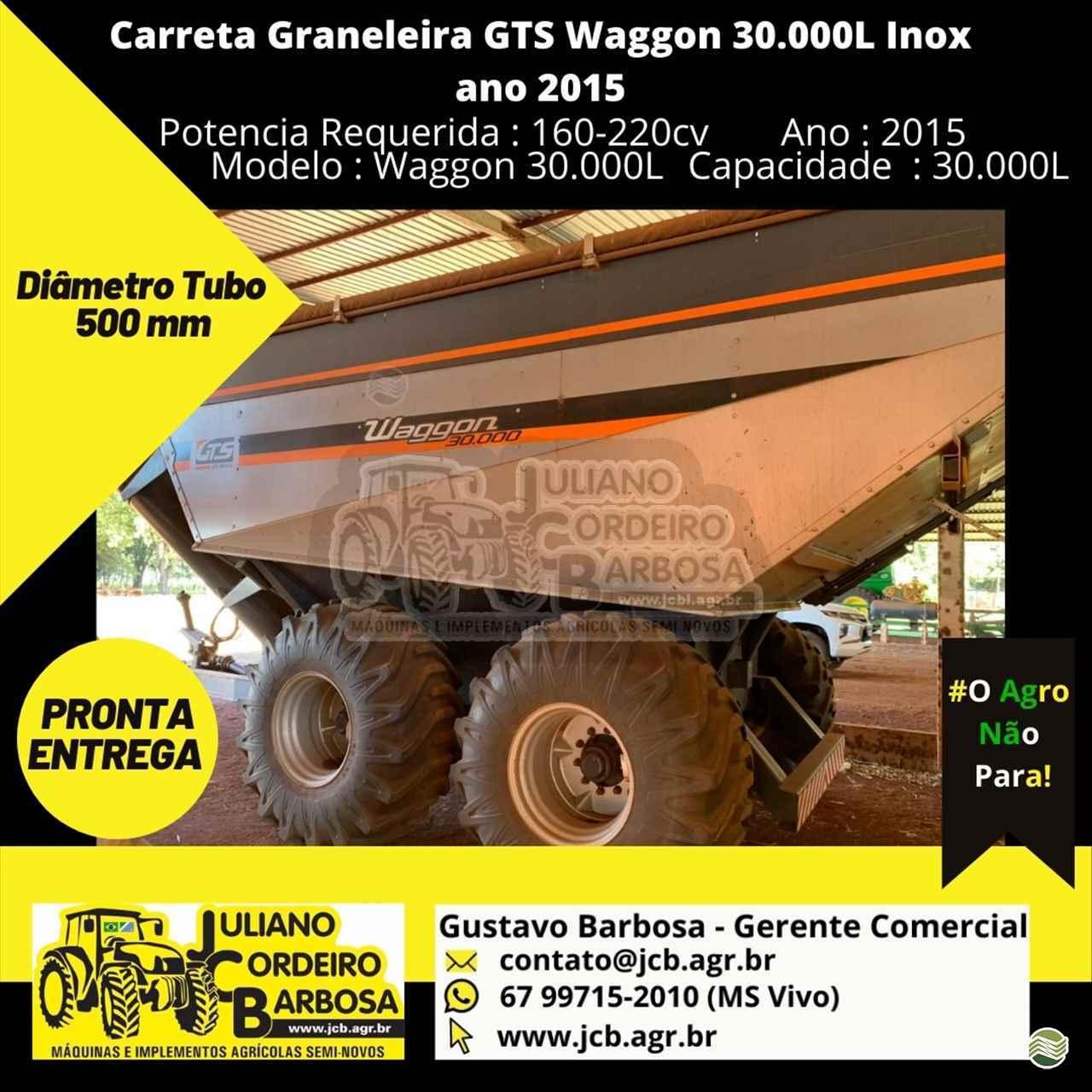 IMPLEMENTOS AGRICOLAS CARRETA BAZUKA GRANELEIRA 30000 JCB Máquinas e Implementos Agrícolas MARACAJU MATO GROSSO DO SUL MS