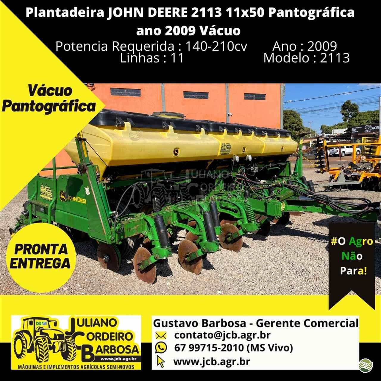 PLANTADEIRA JOHN DEERE PLANTADEIRAS 2113 JCB Máquinas e Implementos Agrícolas MARACAJU MATO GROSSO DO SUL MS