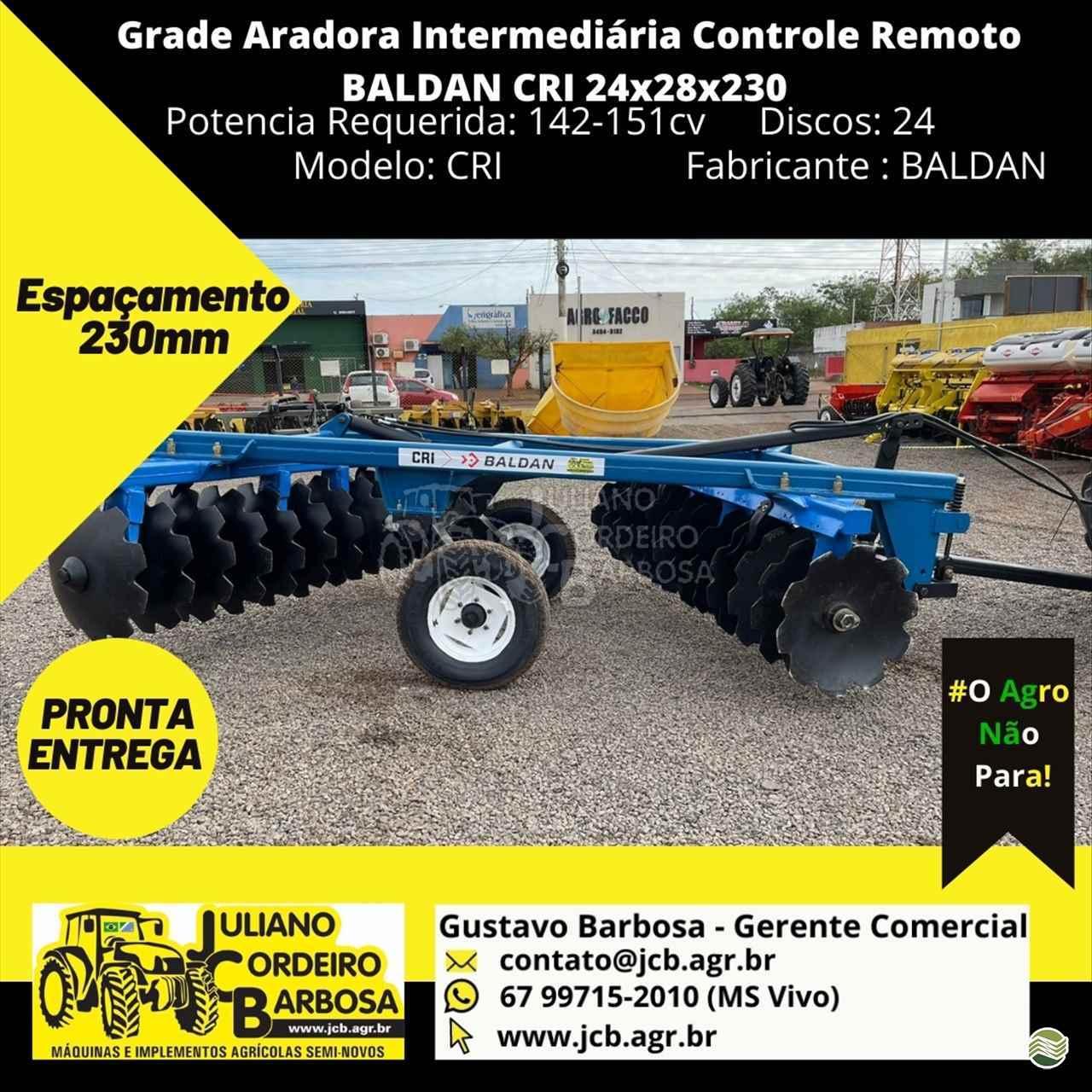 IMPLEMENTOS AGRICOLAS GRADE INTERMEDIÁRIA INTERMEDIÁRIA 24 DISCOS JCB Máquinas e Implementos Agrícolas MARACAJU MATO GROSSO DO SUL MS
