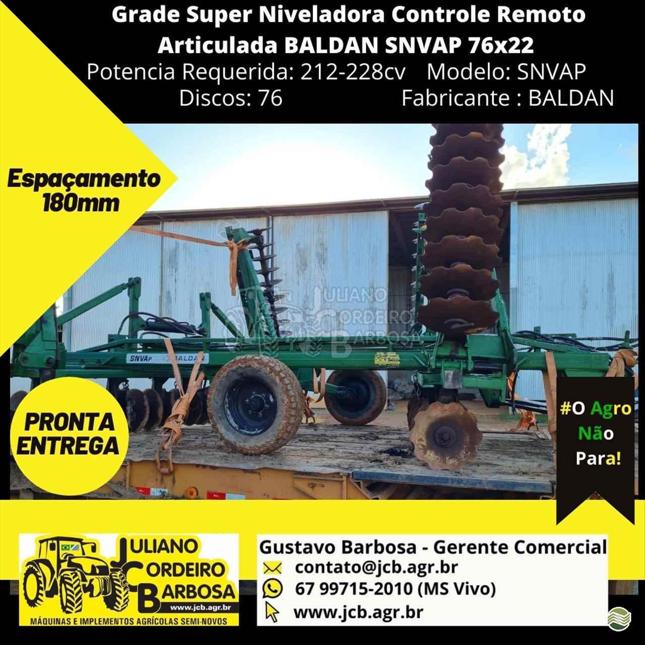 IMPLEMENTOS AGRICOLAS GRADE NIVELADORA NIVELADORA 76 DISCOS JCB Máquinas e Implementos Agrícolas MARACAJU MATO GROSSO DO SUL MS