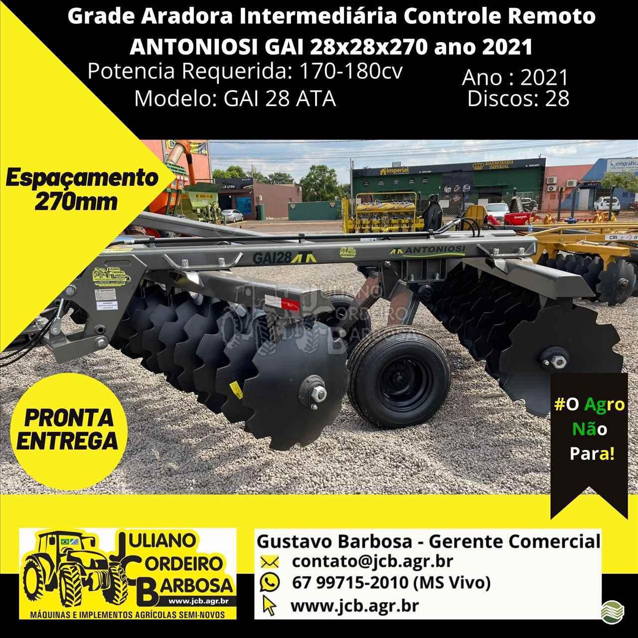 INTERMEDIÁRIA 28 DISCOS de JCB Máquinas e Implementos Agrícolas - MARACAJU/MS