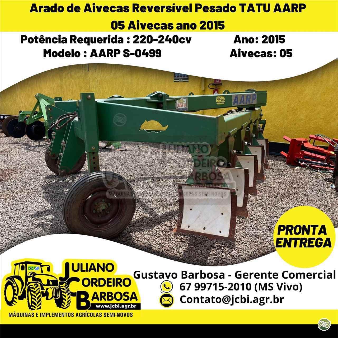 ARADO DE AIVECA de JCB Máquinas e Implementos Agrícolas - MARACAJU/MS