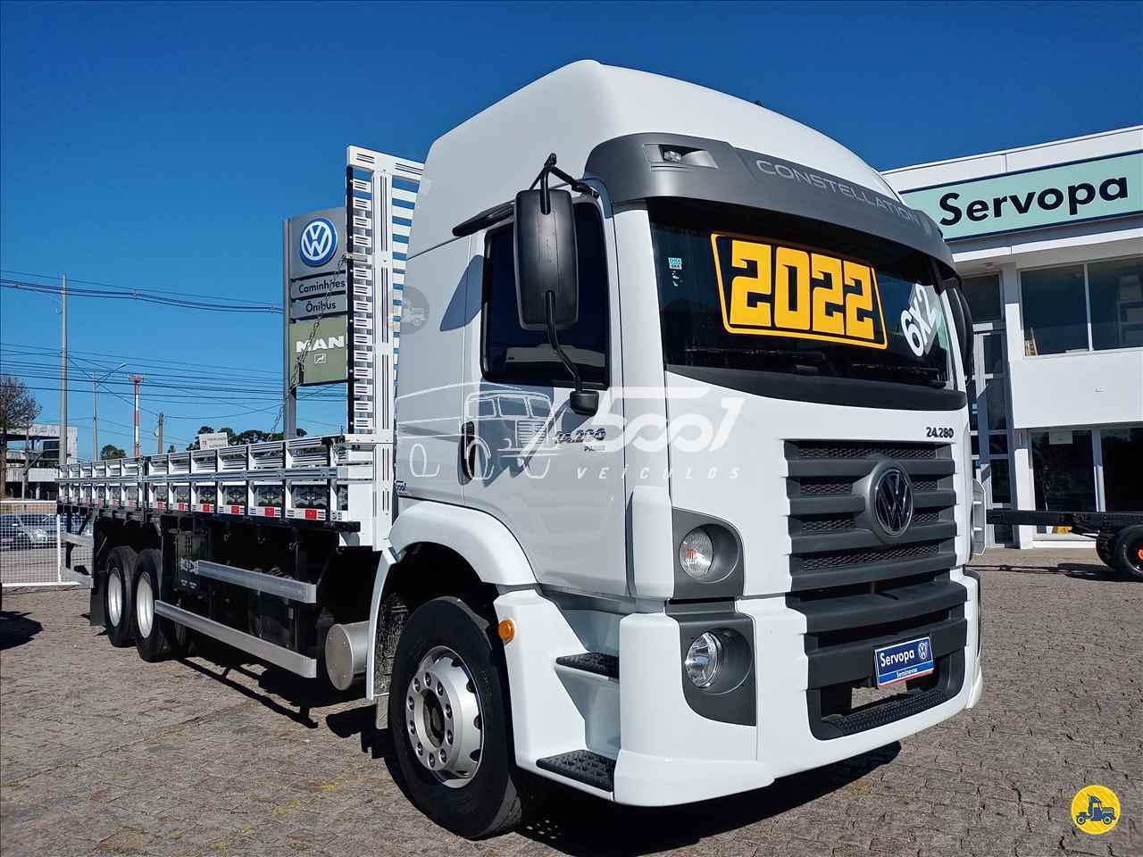 CAMINHAO VOLKSWAGEN VW 24280 Carroceria Cabine Suplementar Truck 6x2 5001 Veículos - Curitiba CURITIBA PARANÁ PR