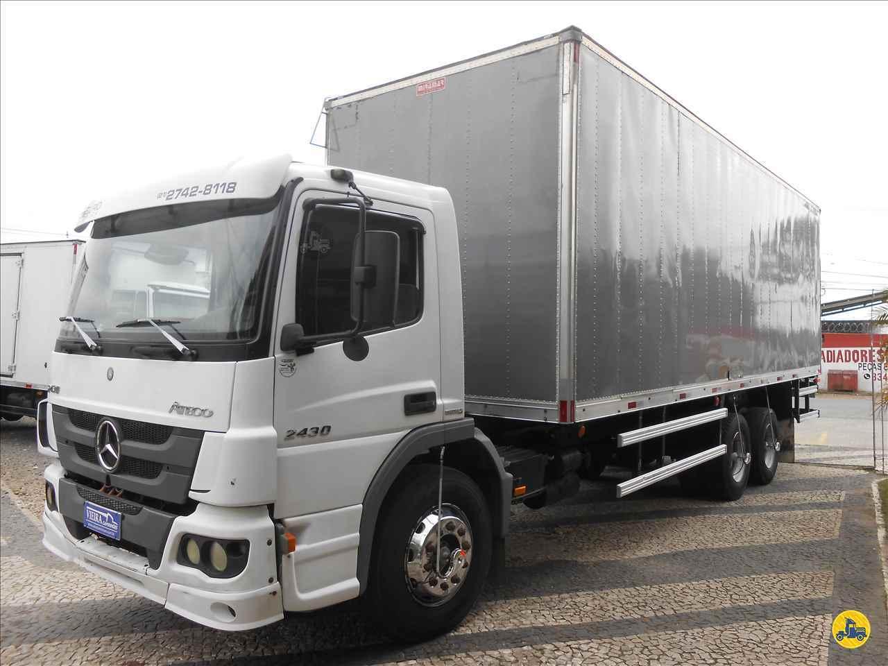 CAMINHAO MERCEDES-BENZ MB 2430 Baú Furgão Truck 6x2 Vieira Caminhões CURITIBA PARANÁ PR