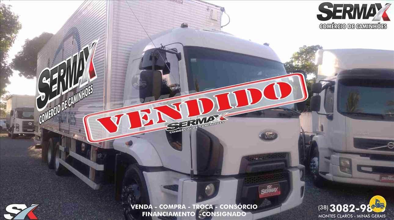 CAMINHAO FORD CARGO 2431 Baú Furgão Truck 6x2 Sermax Caminhões MONTES CLAROS MINAS GERAIS MG