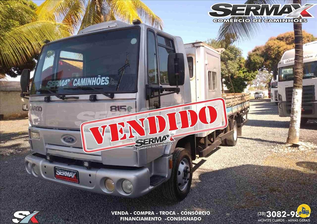CAMINHAO FORD CARGO 815 Carroceria Cabine Suplementar 3/4 4x2 Sermax Caminhões MONTES CLAROS MINAS GERAIS MG