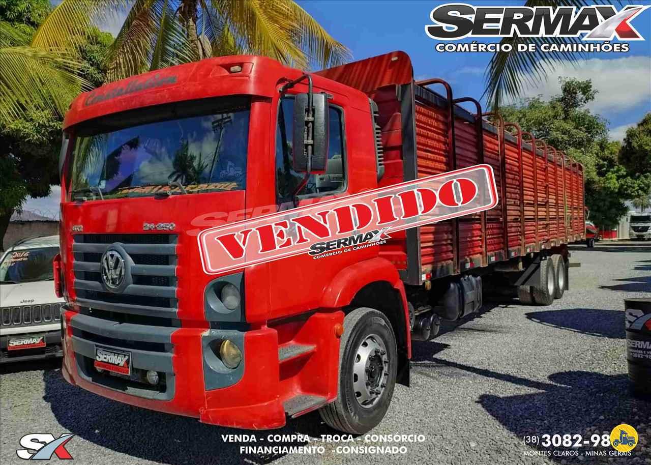 CAMINHAO VOLKSWAGEN VW 24250 Boiadeiro Truck 6x2 Sermax Caminhões MONTES CLAROS MINAS GERAIS MG