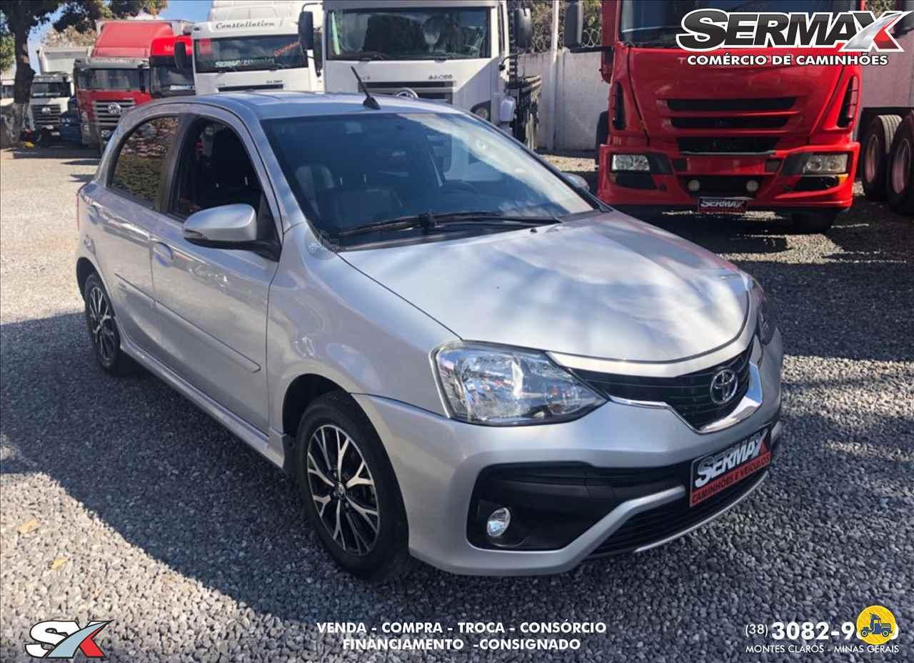 CARRO TOYOTA Etios 1.5 Platinum Sermax Caminhões MONTES CLAROS MINAS GERAIS MG