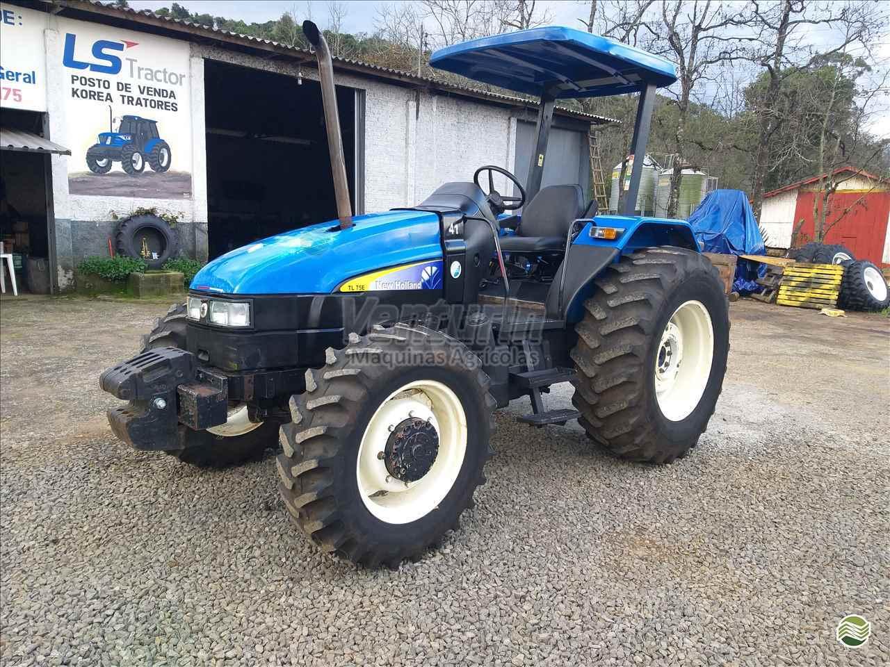 TRATOR NEW HOLLAND NEW TL 75 Tração 4x4 Venturin Máquinas Agrícolas  OURO SANTA CATARINA SC