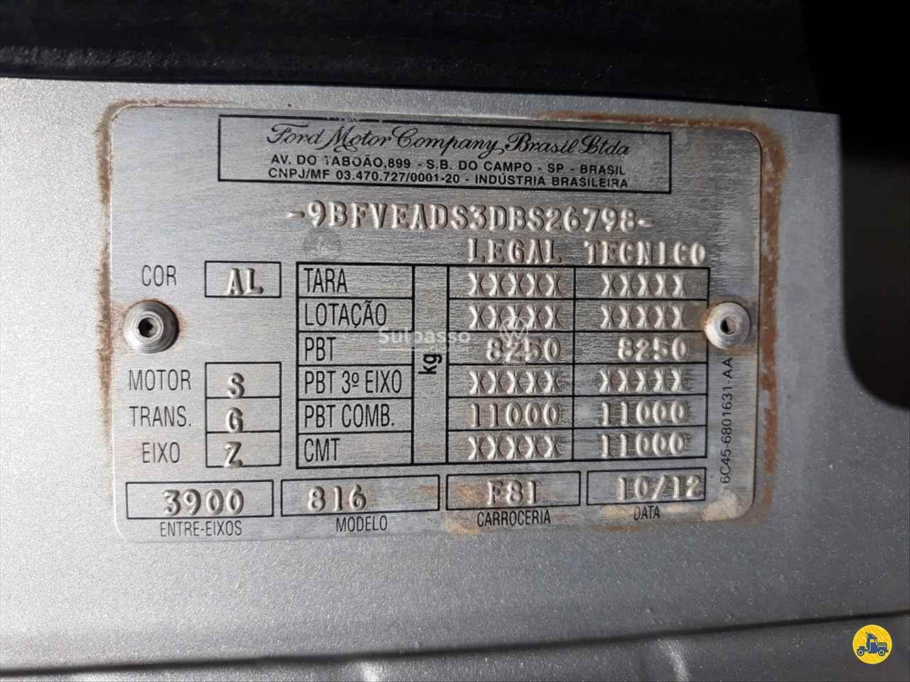 FORD CARGO 816 392352km 2012/2013 Sulpasso Caminhões - VW MAN
