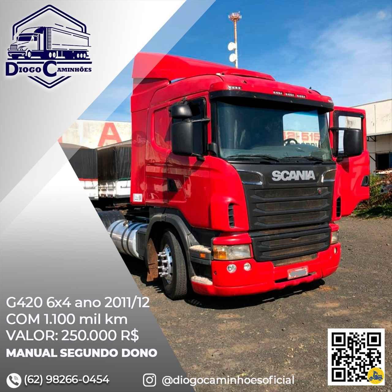 CAMINHAO SCANIA SCANIA 420 Cavalo Mecânico Traçado 6x4 Diogo Caminhões ANAPOLIS GOIAS GO