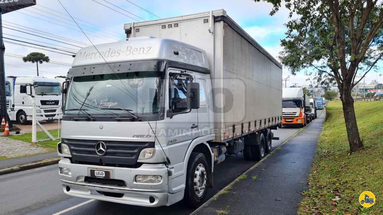 CAMINHAO MERCEDES-BENZ MB 2425 Baú Sider Truck 6x2 Lelo Caminhões CURITIBA PARANÁ PR