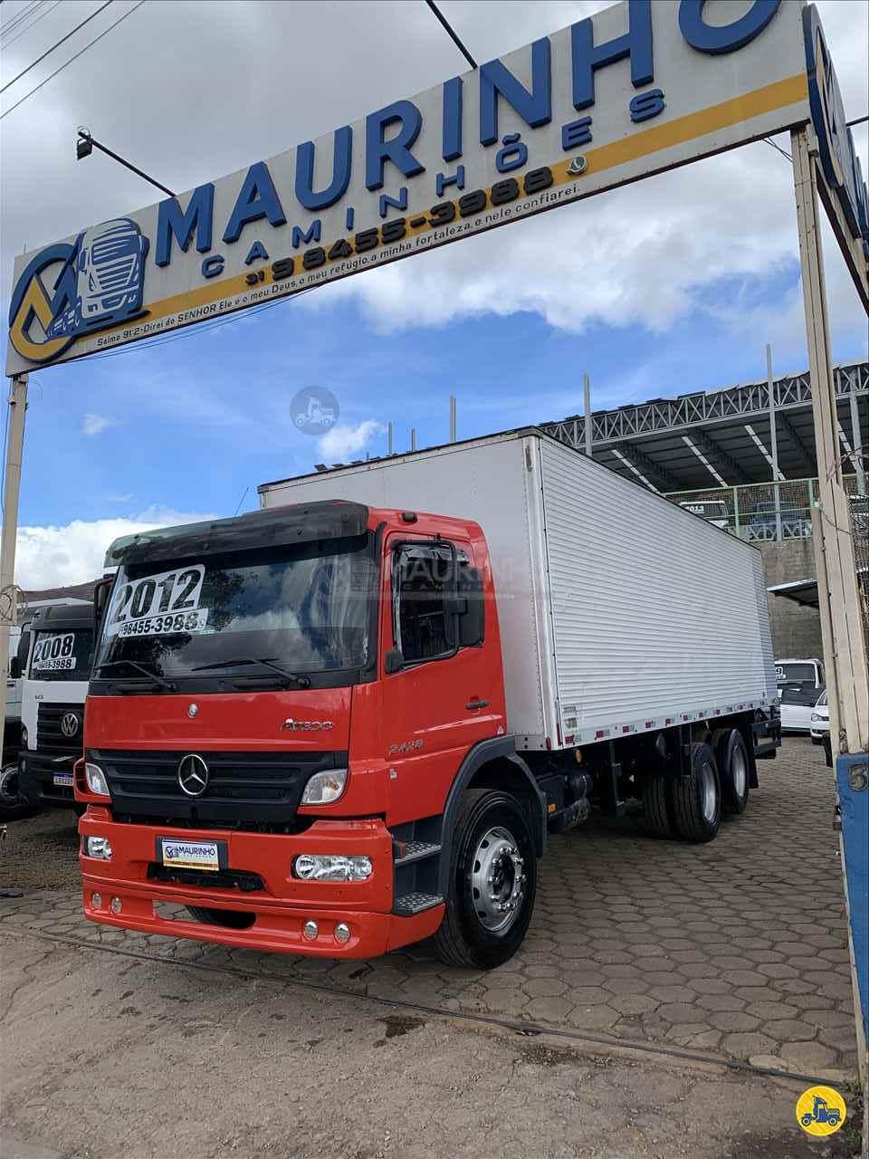 CAMINHAO MERCEDES-BENZ MB 2428 Baú Furgão Truck 6x2 Maurinho Caminhões JOAO MONLEVADE MINAS GERAIS MG