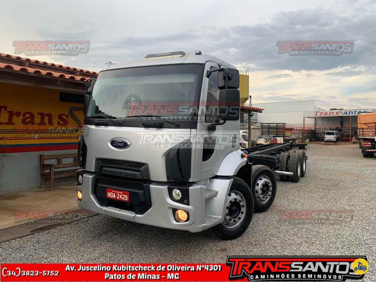 CAMINHAO FORD CARGO 2429 Chassis BiTruck 8x2 TransSantos Seminovos PATOS DE MINAS MINAS GERAIS MG