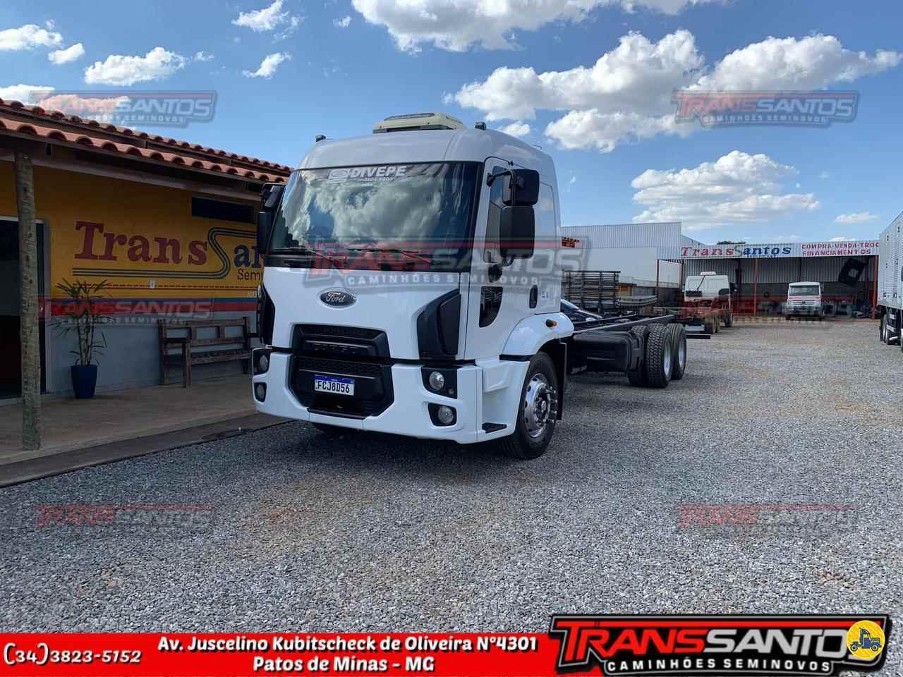 CAMINHAO FORD CARGO 2429 Chassis Truck 6x2 TransSantos Seminovos PATOS DE MINAS MINAS GERAIS MG
