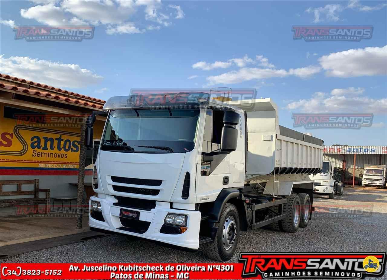 CAMINHAO IVECO TECTOR 240E25 Caçamba Basculante Truck 6x2 TransSantos Seminovos PATOS DE MINAS MINAS GERAIS MG