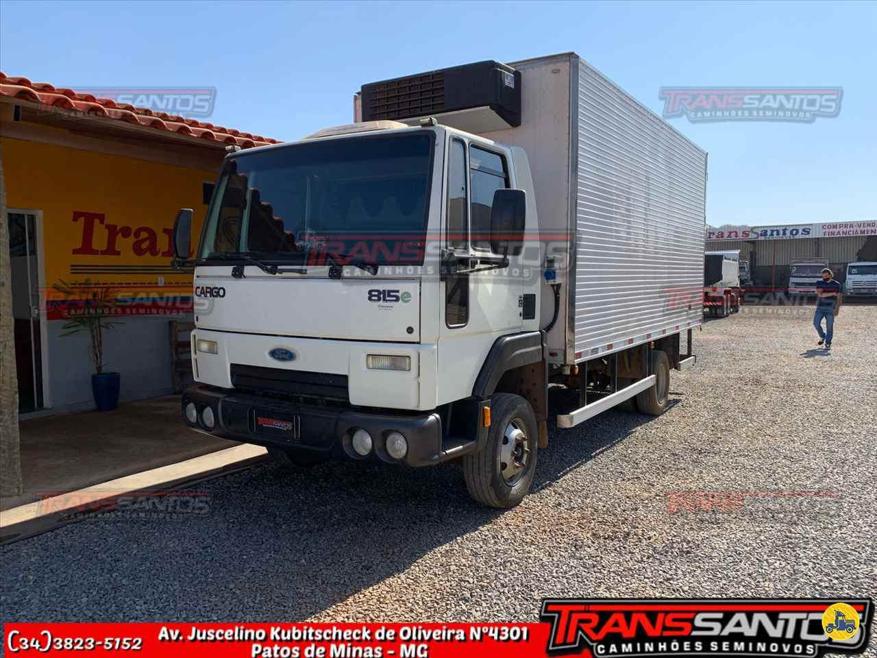 CAMINHAO FORD CARGO 815 Chassis 3/4 4x2 TransSantos Seminovos PATOS DE MINAS MINAS GERAIS MG