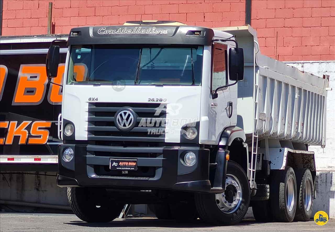 CAMINHAO VOLKSWAGEN VW 26280 Caçamba Basculante Traçado 6x4 Autobom Trucks CONTAGEM MINAS GERAIS MG
