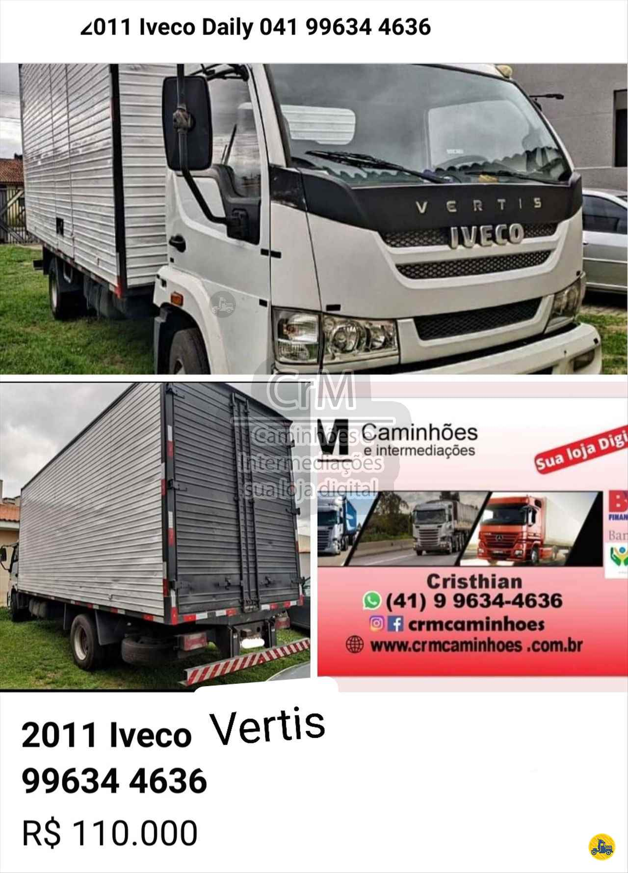 CAMINHAO IVECO VERTIS HD 90V16 Baú Furgão 3/4 4x2 CrM Caminhões e Intermediações - Sua Loja Digital CAMPINA GRANDE DO SUL PARANÁ PR