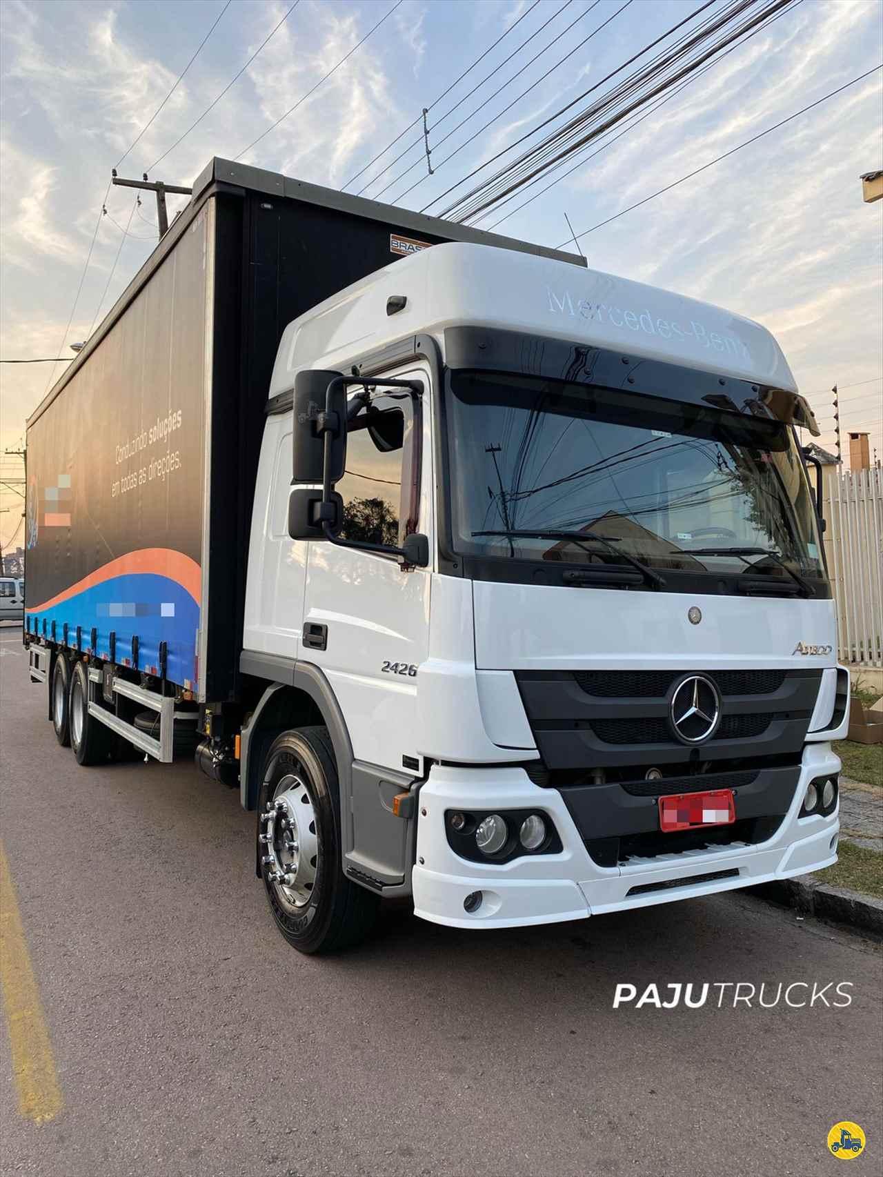 CAMINHAO MERCEDES-BENZ MB 2426 Baú Sider Truck 6x2 Paju Trucks CURITIBA PARANÁ PR